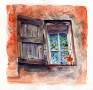 Provence Window Orange